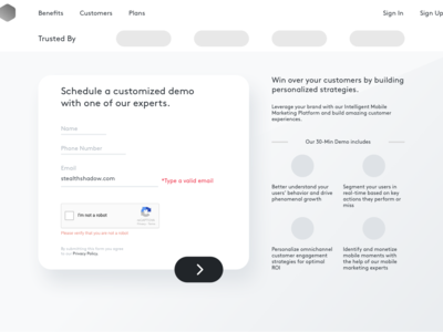 Signup Wireframe