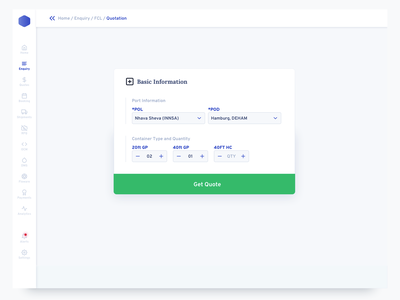 Dashboard Enquiry payment invoice navigation data map minimal table type field form sidebar ui sass dashboard package delivery shipping ux design analytics charts