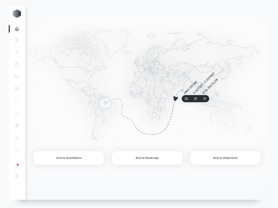 1. Logistic Dashboard icons tracking stats ux black shipping delivery dashboard sass enterprise ui sidebar minimal white port map data navigation invoice payment