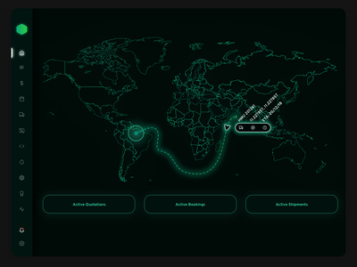 1. Logistics Dashboard Military black  white payment invoice navigation data map port minimal sidebar ui enterprise sass dashboard delivery shipping black ux stats tracking