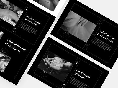 Massage Website Story Components UI web design landing page clean ui concept ui design black blackandwhite simple clean interface simple premium components website massage