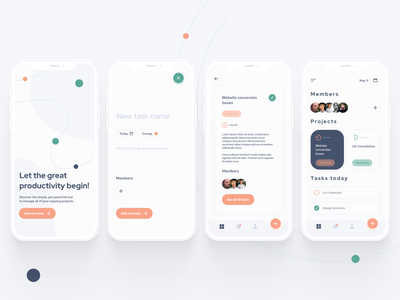 Task Manager App UI splashscreen simple light clean ui clean mobile app uxui ux concept ui design tools project management tool project managment manager task manager