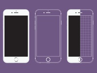 iphone 5 Vector and Wireframe Model