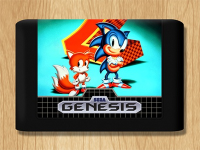 Sega gensis cartridge dribbble