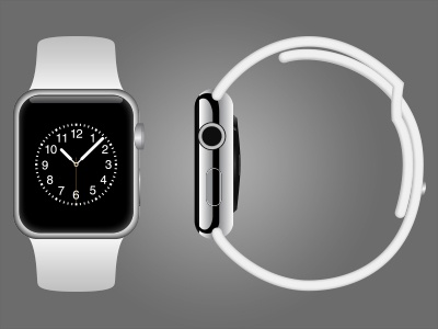 Apple watch vector mockup dribbble