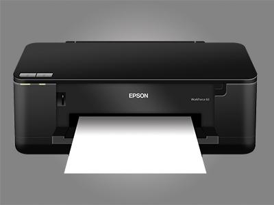 Epson Workforce 60 Inkjet Printer PSD by DarkoDesign on Dribbble