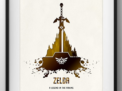 Zelda 30th anniversary tribute by darkodesign dribbble