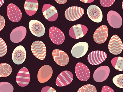 Easter Egg Pattern illustrator pattern egg easter