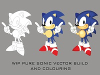 Pure Vector Sonic Illustration and Colouring