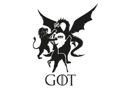 Game of Thrones - Houses silhoutte got game of thrones
