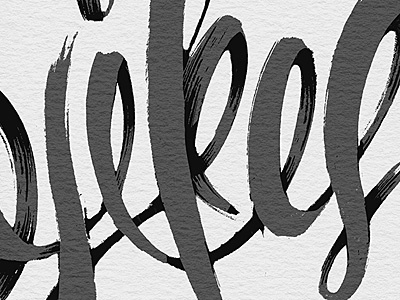 Yikes! typography brush ink type hand made