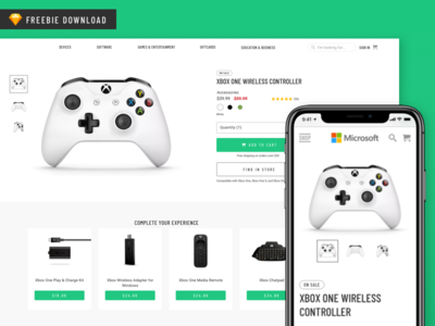 Sketch Freebie - Product Page