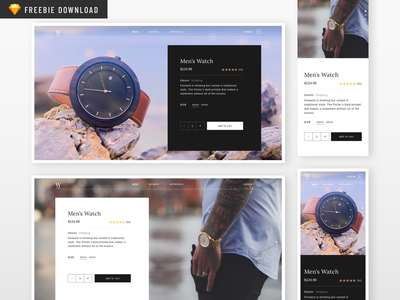 Sketch Freebie - Watch Product Page product page watch ui sketch product freebie ecommerce download design