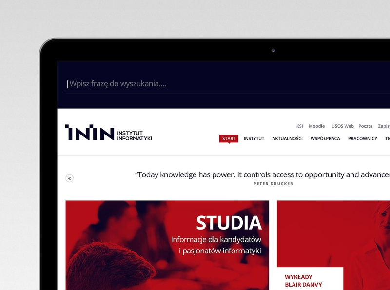 ININ minimalistic institutional modern ui  ux app responsive website