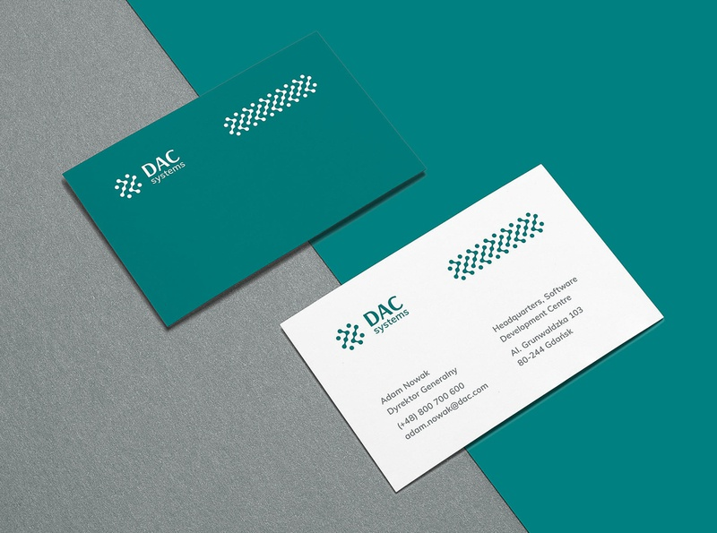 DAC Systems minimal minimalistic modern it technology tech stationery branding visual identity logo
