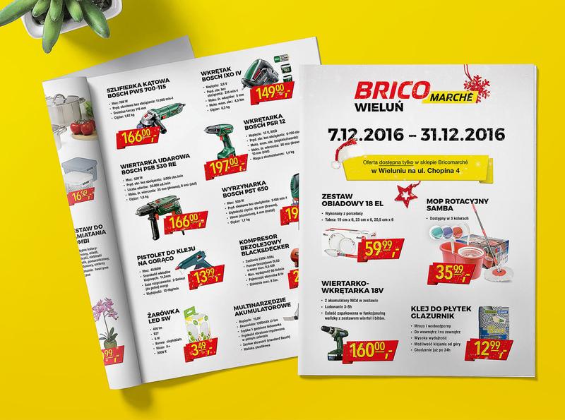 Bricomarche products shop branding leaflet flyer magazine print