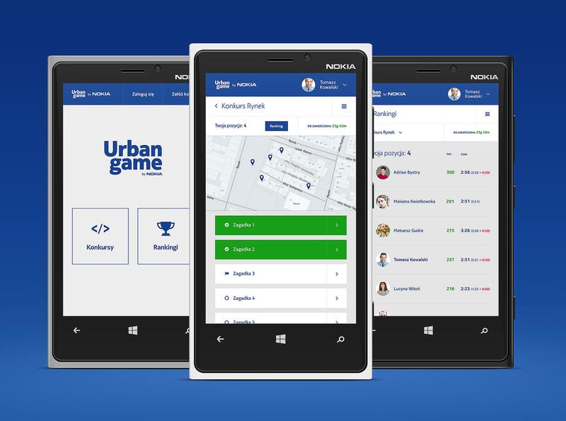 Urban Game by Nokia flat modern clean responsive mobile ui ux app design