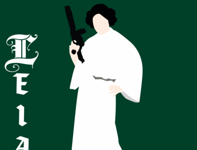 Leia star wars illustrator vector typography illustration disney art design
