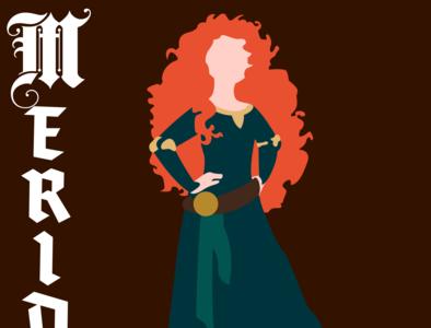 Merida illustrator vector typography illustration disney art design