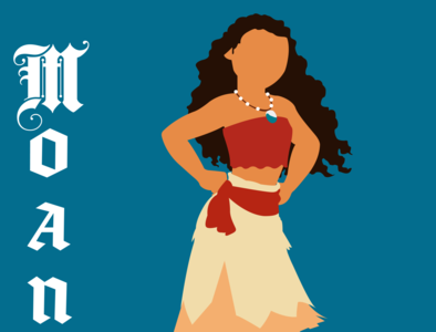 Moana illustrator vector typography illustration disney art design