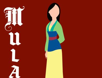 Mulan illustrator vector typography illustration disney art design