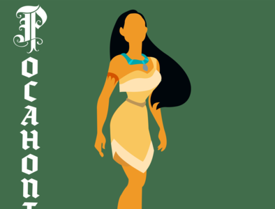 Pocahontas illustrator vector typography illustration disney art design