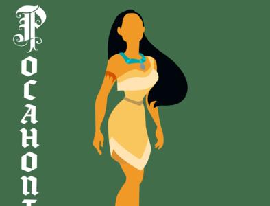 Pocahontas illustrator vector typography illustration disney art design