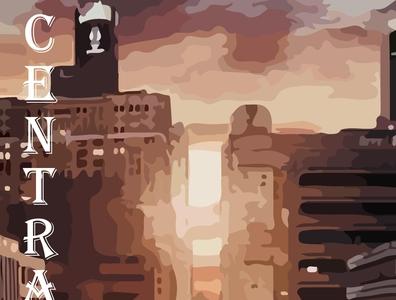 Central City superhero marvel illustrator vector typography illustration design