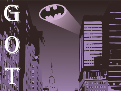 Gotham superhero marvel illustrator vector typography illustration design