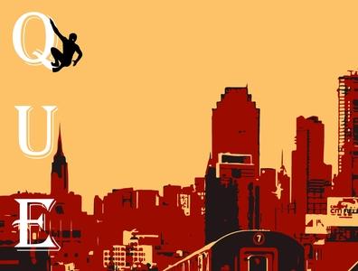 Queens superhero marvel illustrator vector typography illustration design