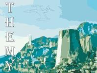 Themyscira superhero marvel illustrator vector typography illustration design