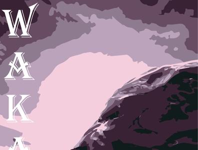 Wakanda superhero marvel illustrator vector typography illustration design