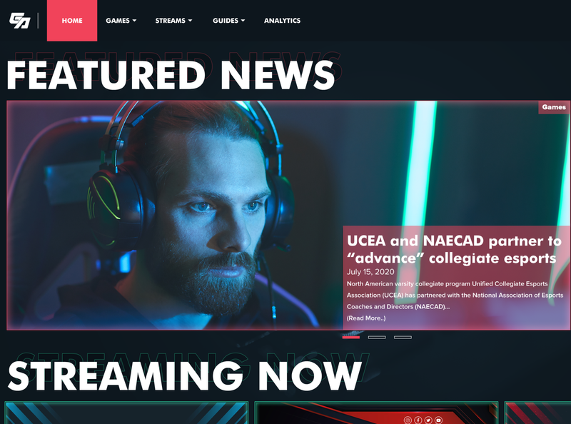 Gamer's Alcove (Teaser) esport games design webdesign ui ux