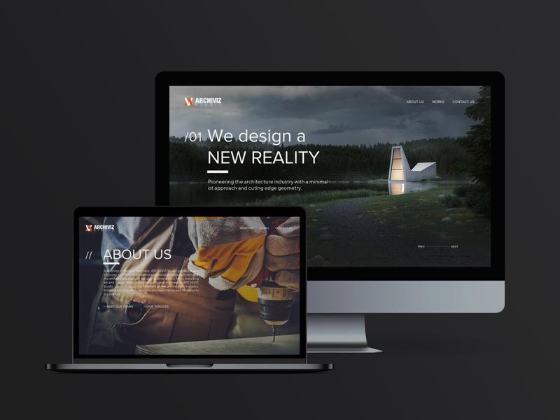ARCHIVIZ Studio (Teaser Shot) minimal app web logo webdesign ux ui design branding