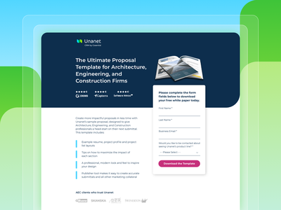 Proposal Template Landing Page cro b2b saas ux ui landing page web design