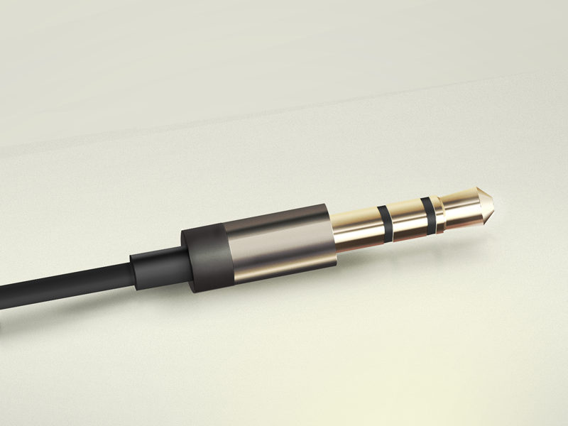 Headphone plug of  Aurvana In-Ear2  headphone plug icon psd freebie