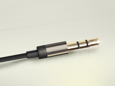 Headphone plug of  Aurvana In-Ear2