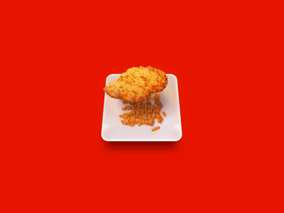 Partly cloudy icon weather food fried chicken cloudy