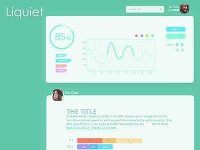 Liquiet - UI Kit ui psd freebie ui kit