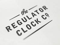 Regulator Clock Co. logo id clock regulator clock company