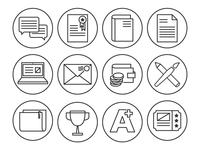Icons icon line illustrator simple minimal circular round