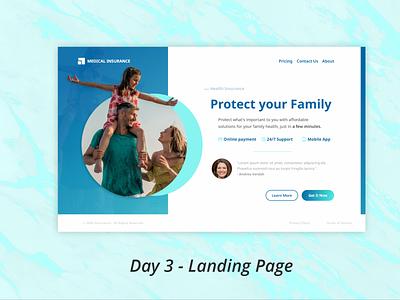 Day 3 - Landing Page adobe ux ui design dailyui