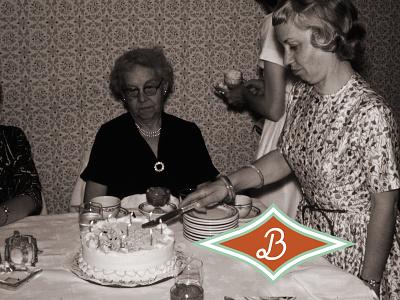 B Monogram Logo Mark cursive b letter cupcake logo cakery 1950s cake logo midcenturymodern bakery logo star logo midcentury secondary logo branding b logo