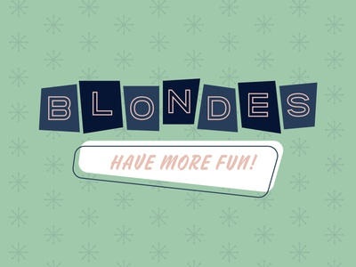 Blondes Have More Fun midcentury sign branding pastel cupcake logo illustration cake logo bakery logo 1950s vintage desgi midcentury modern midcentury cakery logo blonde