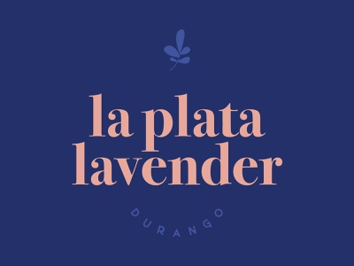 La Plata Lavender Logo, Durango CO minimalist logo stacked lockup durango pastel lavender floral branding flower logo farm logo lavender farm lavender logo colorado