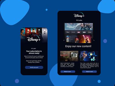 Disney + disney disney art email design ui app design