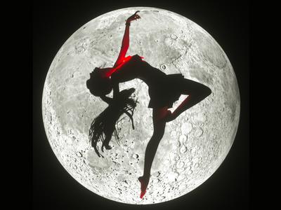 moon illustration 3d c4d moon