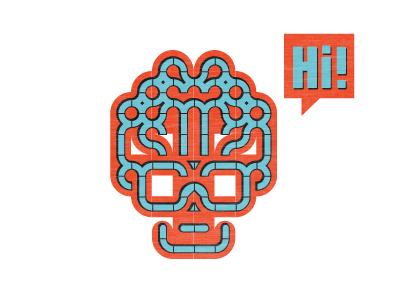 Hello Symmetry symmetry illustration modular type face