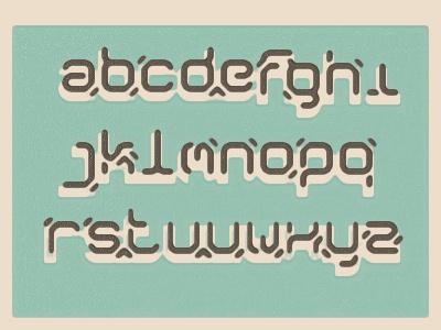 Modulo typeface font symmetry modulo1 abc