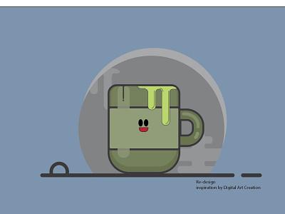 green tea branding icon design